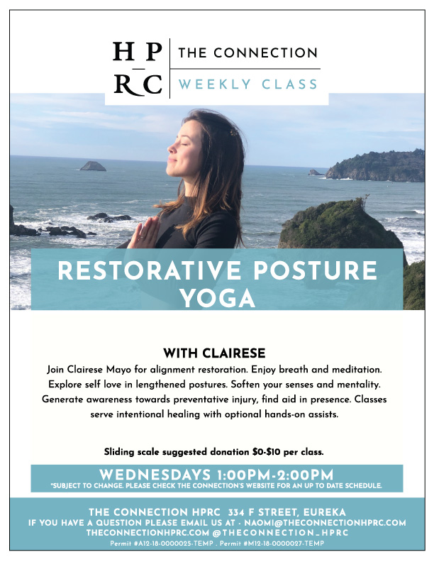 Restorative Posture Yoga Flyer